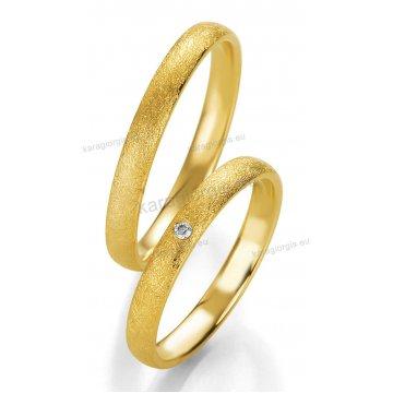 Βέρες χρυσές με πέτρα Brilliand στη γυναικεία 3,00mm