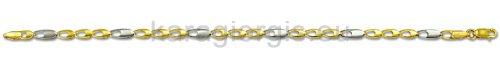 Καδένα χεριού δίχρωμη χρυσό με λευκόχρυσο 4,00mm