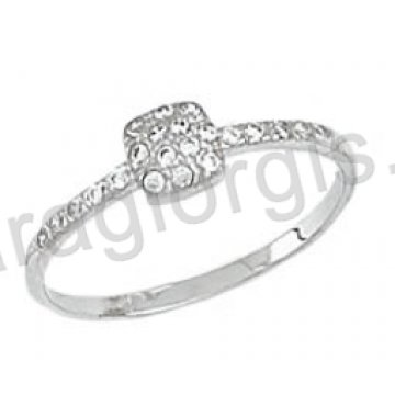 Δαχτυλίδι K14 λευκόχρυσο μοντέρνο με άσπρες πέτρες ζιργκόν 76e274ba16d