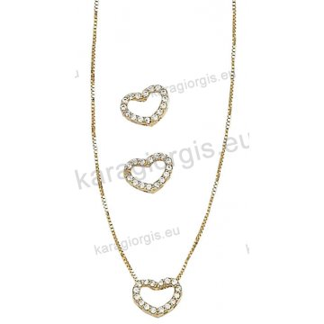Σετ Κ14 χρυσό αρραβώνα-γάμου με κολιέ bedacf508f4