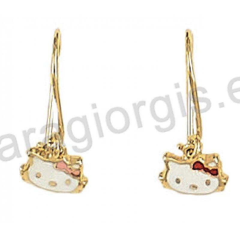 SZ332 Παιδικό σκουλαρίκι κρεμαστό με πεταλουδίτσες με hello kitty ... 9e716833169