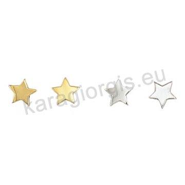 Σκουλαρίκι χρυσό ή λευκόχρυσο Κ14 σε αστεράκια.