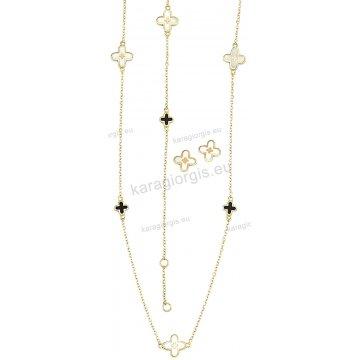 Σετ χρυσό σε Κ14 με κολιέ, βραχιόλι, σκουλαρίκια με περιμετρικά στοιχεία σε σταυρουδάκια με φίλντισι.