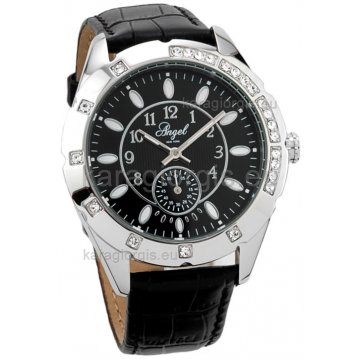 Ρολόι ANGEL NEW YORK γυναικείο με δερμάτινο λουράκι 41mm b10e4029c0c