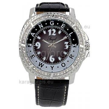 Ρολόι ANGEL NEW YORK γυναικείο με δερμάτινο λουράκι 43mm