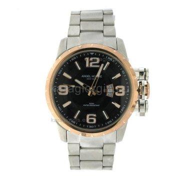 Ρολόι ANGEL HOMME ανδρικό με μπρασελέ 46mm
