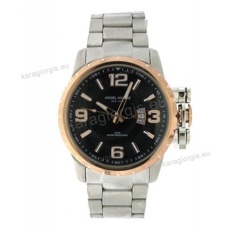 Ρολόι ANGEL HOMME ανδρικό με μπρασελέ 46mm 9d7492eccbb