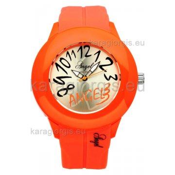 Ρολόι ANGEL NEW YORK γυναικείο με λουράκι σιλικόνης 45mm