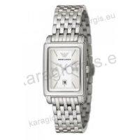 Ρολόι ARMANI γυναικείο τετράγωνο με μπρασελέ 24mm*28mm