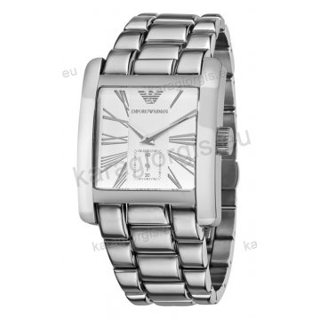 Ρολόι ARMANI ανδρικό-γυναικείο τετράγωνο με μπρασελέ 42mm