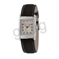 Ρολόι ARMANI γυναικείο τετράγωνο με μαύρο δερμάτινο λουράκι 24mm*28mm