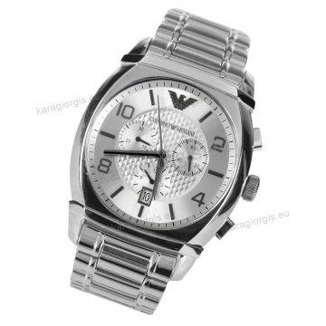 Ρολόι emporio Armani ανδρικό-γυναικείο χρονογράφος με μπρασελέ 42mm