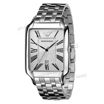 Ρολόι emporio armani ανδρικό-γυναικείο τετράγωνο με μπρασελέ 35mm