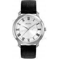 Ρολόι BULOVA DRESS COLLECTION ανδρικό με μαύρο δερμάτινο λουράκι 41mm