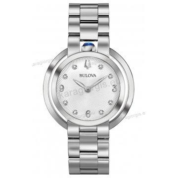 Ρολόι BULOVA Ladies Curved Diamond Collection γυναικείο με ατσάλινο  μπρασελέ και 8 διαμάντια στο καντράν 35mm fee5971a053