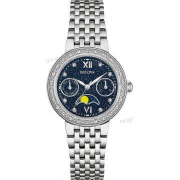 Ρολόι BULOVA Ladies Diamond Collection γυναικείο με 26 διαμάντια στο  καντράν και στη στεφάνη 32mm aa7488624e2