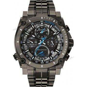 Ρολόι BULOVA precisionist champlain chronograph Collection ανδρικό total  black με μαύρο μπρασελέ και χρονογράφο ακριβείας 47 6b9360358c5