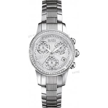 Ρολόι BULOVA Accutron Masella Womens Watch γυναικείο ελβετικό με μπρασελέ 90 διαμάντια στο καντράν και στη στεφάνη κρύσταλο από ζαφείρι και χρονογράφος ακριβείας 31mm
