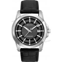Ρολόι BULOVA Precisionist Collection ανδρικό με μαύρο δερμάτινο λουράκι 42mm