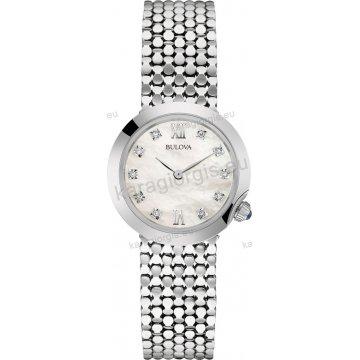 Ρολόι BULOVA Ladies Diamond Collection γυναικείο ανοξείδωτο μπρασελέ με 12 διαμάντια στο καντράν 28mm