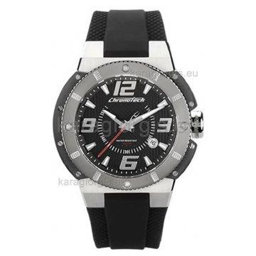 Ρολόι CHRONOTECH αυτόματο-μηχανικό με λούρι σιλικόνης 47mm