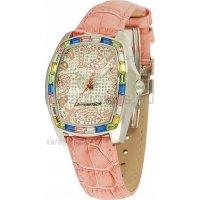 Ρολόι CHRONOTECH γυναικείο τετράγωνο με δερμάτινο λουράκι 38mm