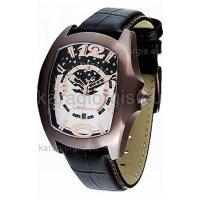 Ρολόι CHRONOTECH τετράγωνο με δερμάτινο λουράκι 45mm