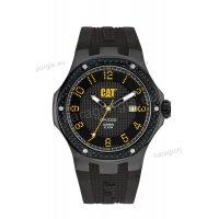 Ρολόι CUT CATERPILLAR NAVIGO carbon date ανδρικό με μαύρο λουράκι σιλικόνης 44mm