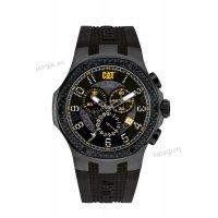 Ρολόι CUT CATERPILLAR NAVIGO carbon chrono ανδρικό με μαύρο λουράκι σιλικόνης 44mm