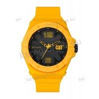 Ρολόι CUT CATERPILLAR Spirit ανδρικό με κίτρινο λουράκι σιλικόνης 46,5mm