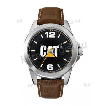 Ρολόι CUT CATERPILLAR Icon ανδρικό με καφέ δερμάτινο λουράκι 45mm