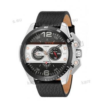 Ρολόι Diesel ανδρικό με χρονογράφο ακριβείας και μαύρο λουράκι 55mm