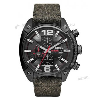 Ρολόι Diesel ανδρικό με χρονογράφο ακριβείας και μαύρο λουράκι 50mm