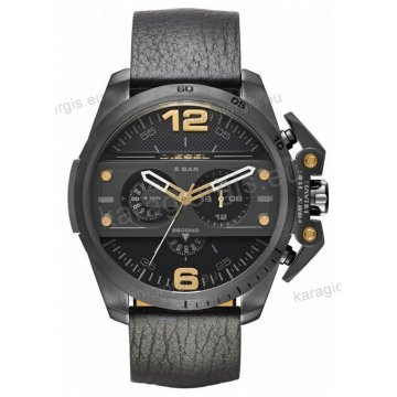Ρολόι Diesel ανδρικό total black με χρονογράφο ακριβείας και μαύρο λουράκι 55mm