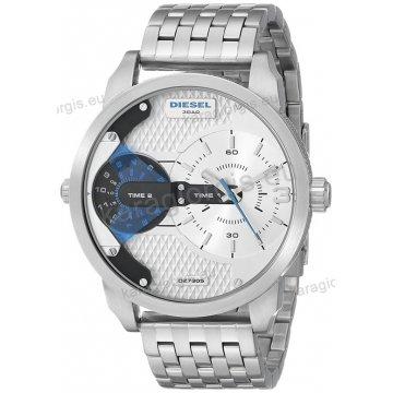 Ρολόι Diesel ανδρικό με χρονογράφο ακριβείας μεταλλικό μπρασελέ και ένδειξη διπλής ώρας 46mm