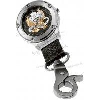 Ρολόι τσέπης ή κρεμαστό HARLEY DAVIDSON ανδρικό-γυναικείο με μαύρο δερμάτινο λουράκι
