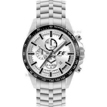 Ρολόι JACQUES LEMANS F1 χρονογράφος με μπρασελέ 40mm