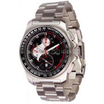 Ρολόι JACQUES LEMANS F1 ανδρικό χρονογράφος με μπρασελέ 42mm