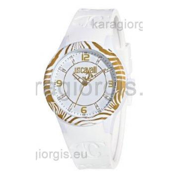 Ρολόι JUST CAVALLI με λουράκι σιλικόνης 40mm