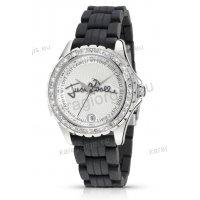 Ρολόι Just Cavalli γυναικείο στρογγυλο με μαύρο λουράκι σιλικόνης 43mm