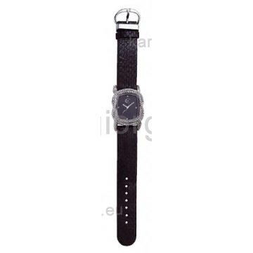 Ρολόι JUST CAVALLI με μαύρο δερμάτινο λουράκι