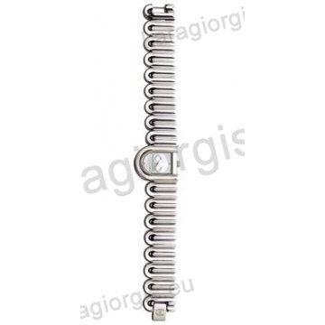 Ρολόι Just Cavalli γυναικείο οβαλ ασημί καντράν με μπρασελέ 26*21mm