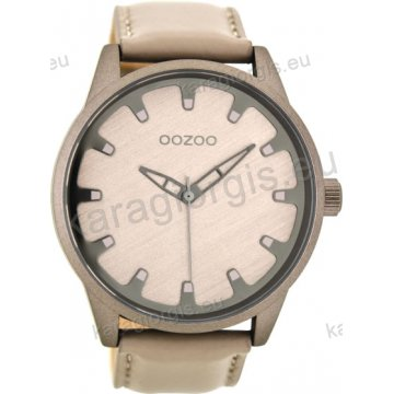 Ρολόι OOZOO timepieces ανδρικό-γυναικείο με γκρι δερμάτινο λουράκι σε γκρι  καντράν 48mm 43de2121374