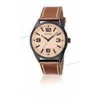 Ρολόι Pierre Lannier VINTAGE με καφέ δερμάτινο λουράκι 42mm