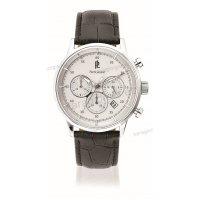 Ρολόι Pierre Lannier RETRO CHRONOGRAPH ανδρικό με μαύρο δερμάτινο λουράκι 44mm