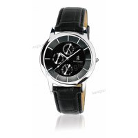 Ρολόι Pierre Lannier SLIM χρονογράφος πολλαπλών ενδείξεων με μαύρο δερμάτινο λουράκι 40mm