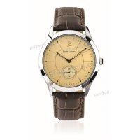 Ρολόι Pierre Lannier CLASSIC ανδρικό με καφέ δερμάτινο λουράκι 42mm