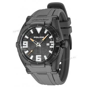 Ρολόι POLICE με μαύρο λουράκι σιλικόνης μαύρη κάσα 45mm