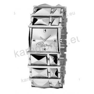 Ρολόι Roberto Cavalli γυναικείο τετράγωνο με μπρασελέ 30mm