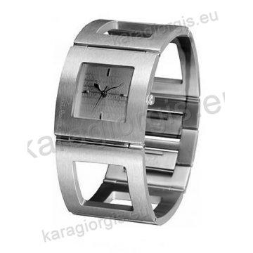 Ρολόι Roberto Cavalli γυναικείο τετράγωνο με μπρασελέ σε βραχιόλι 31*31mm